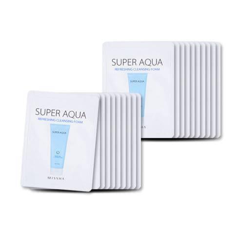 Нежная Пенка Для умывания Missha Super Aqua Refreshing Cleansing Foam