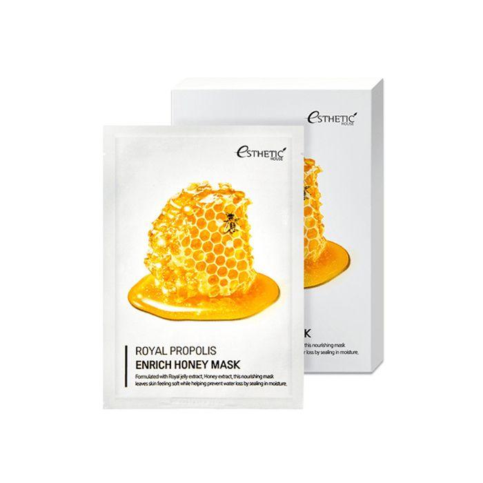 Тканевая маска питательная с маточным молочком, прополисом и медом Esthetic House Royal Propolis Enrich Honey Mask 25ml