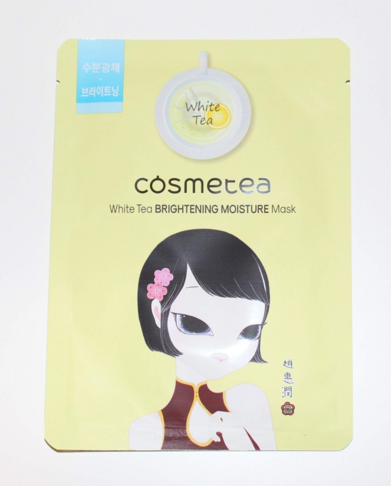 Осветляющая тканевая маска с экстрактом белого чая и лимона Cosmetea White Tea Brightening Moisture Mask 30ml