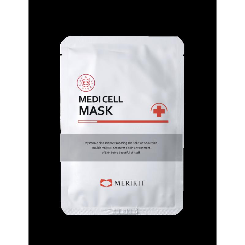 Маска тканевая регенерирующая с экстрактом гамамелиса Merikit Medi Ceil Mask 25ml