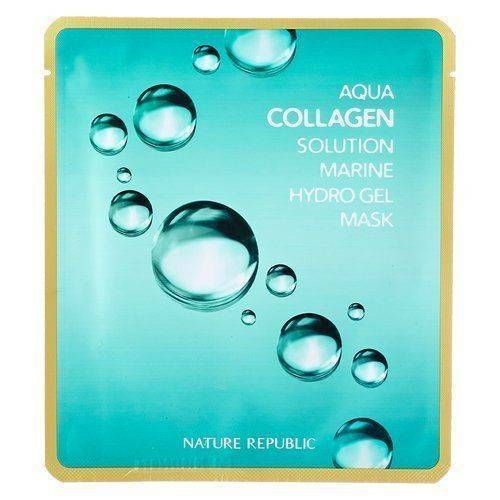 Маска Гидрогелевая С Морским Коллагеном Nature Republic Aqua Collagen Solution Hydrogel Mask Восстанавливающая