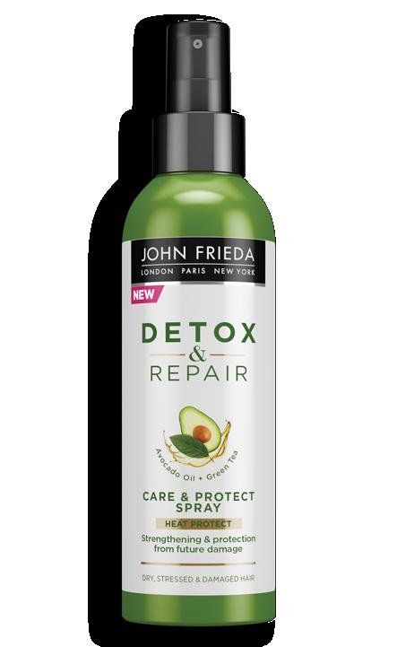 Несмываемый спрей для укрепления волос с термозащитой John Frieda Detox & Repair Care & Protect Spray 200ml