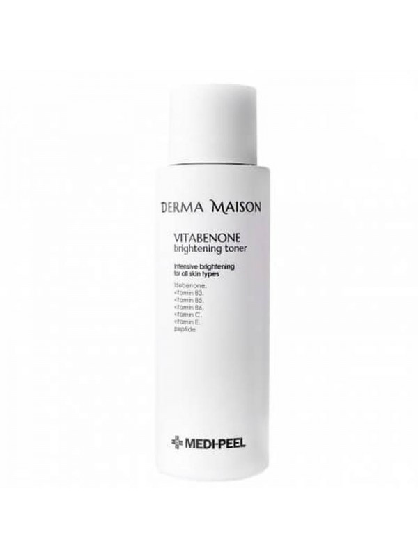Антивозрастной осветляющий тонер с идебеноном Medi-Peel Derma Maison Vitabenone Brightning Toner 250ml