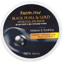 Патчи Для Глаз С Черным Жемчугом И Золотом FarmStay Black Pearl & Gold Hydrogel Eye Patch 60шт