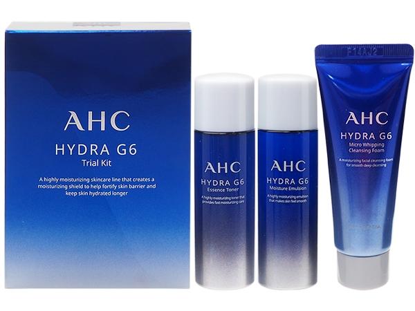Набор миниатюр из увлажняющей пенки для умывания, увлажняющего тонера и увлажняющей эмульсии для лица Hydra G6 Trial Kit AHC 25ml + 25ml + 25ml