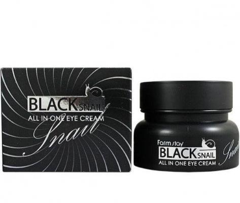 Крем для лица восстанавливающий антивозрастной с муцином черной улитки FarmStay All-In-One Black Snail Eye Cream 100ml