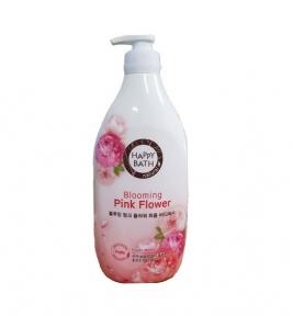 Парфюмированный гель для душа с ароматом цветов пиона Happy Bath Blooming Pink Flower Perfume Body Wash 1200ml