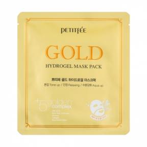 Маска гидрогелевая с золотым комплексом для лица Petitfee Gold Hydrogel Mask Pack +5 golden 1sht