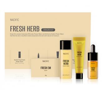 Набор миниатюр для лица в мини-формате для очищения и увлажнения кожи Origin Fresh Kit (soap +Toner + Essence +Cream) Nacific 30g/30ml/10ml/20ml