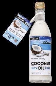 Масло рафинированное кокосовое универсальное Hillary 100% Pure Coconut Oil, 250ml