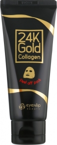 Маска-плёнка с коллагеном и золотом для лица Eyenlip 24K GOLD COLLAGEN PEEL OFF PACK 100ml