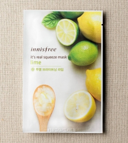 Тканевая Маска С Экстрактом Лайма Innisfree It's Real Squeeze Mask Brightening Lime 20ml