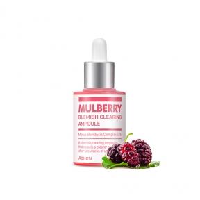 Сыворотка  успокаивающая с экстрактом шелковицы  A'pieu Mulberry Blemish Clearing Ampoule 30ml