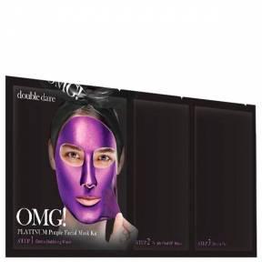 Маска Трехшаговая С Экстрактом Малины Double Dare Omg! Platinum Purple Facial Mask Kit