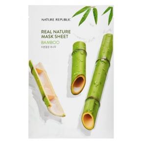 Восстанавливающая тканевая маска с экстрактом бамбука Nature Republic Real Nature Mask Sheet/ Bamboo 23ml