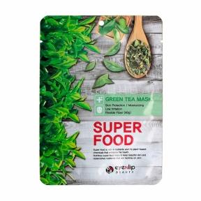 Тканевая маска для лица с экстрактом зеленого чая Eyenlip Super Food Green Tea Mask 23ml