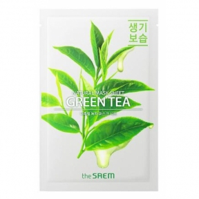 Маска антиоксидантная с экстрактом зеленого чая The Saem Natural Green Tea Mask Sheet 21ml