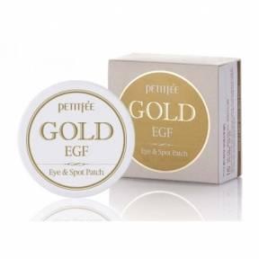 Патчи Премиальные Гидрогелевые C Коллоидным Золотом Эпидермальный Фактором Роста Petitfee GOLD Premium EGF Eye Spot Patch