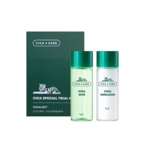 Набор: тонер и эмульсия успокаивающие с экстрактом центеллы VT Cosmetics Cica Special Trial Travel Kit 30ml