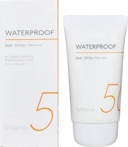 Солнцезащитный крем для тела водостойкий с кокосовым маслом Missha Waterproof Sun SPF50+/PA++++ 50ml