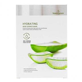 Маска тканевая увлажняющая с экстрактом алоэ вера для лица BeauuGreen Hydrating Aloe Essence Mask 23ml