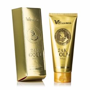 Пенка очищающая с муцином улитки и коллоидным золотом для лица Elizavecca Face Care 24k gold snail Cleansing Foam 180ml