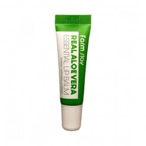 Бальзам увлажняющий с соком алоэ для губ FarmStay Real Aloe Vera Essential Lip Balm 10ml