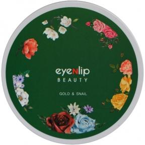 Патчи гидрогелевые с золотом и муцином улитки для глаз Eyenlip GOLD & SNAIL HYDROGEL EYE PATCH 60шт