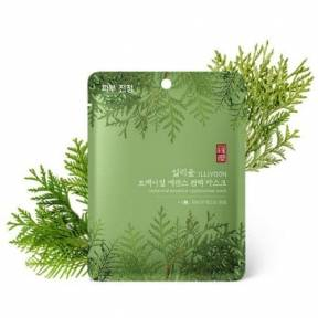 Маска тканевая освежающая для лица с экстрактом кипариса ILLIYOON Botanical Essence Cypress Tree Mask 23g