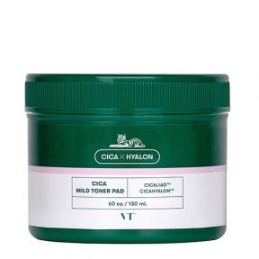 Тонер-пэды успокаивающие с экстрактом центеллы VT Cosmetics Cica Mild Toner Pad 60ea, 130ml