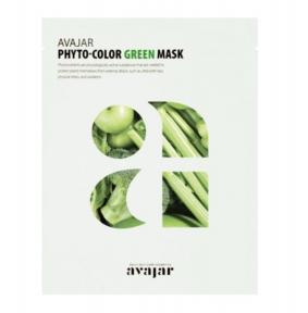 Маска увлажняющая с экстрактами зеленых растений для лица AVAJAR Phyto-Color Green Mask 25ml