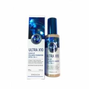 Тональная Основа Премиальная Ультраувлажняющая С Коллагеном Enough ULTRA X10 Cover Up Collagen Foundation SPF50+ PA+++ #13 (100 ml)