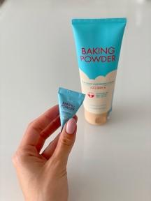 Набор: Пенка для глубокого очищения и снятия макияжа Etude House Baking Powder BB Cleansing Foam 160ml и Скраб для очищения кожи лица с пищевой содой Etude House Baking Powder Crunch Pore Scrub 7g