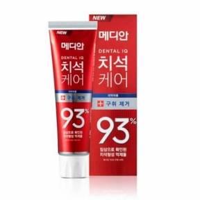 Зубная Паста Освежающая Отбеливающая Median Dental IQ 93% Remove Bad Breath 120мл (красная упаковка)