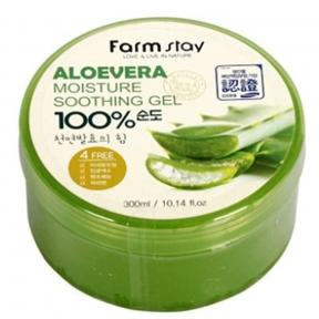 Гель многофункциональный увлажняющий с экстрактом алоэ Farmstay Moisture Soothing Gel Aloe Vera 300ml