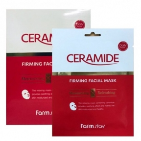 Маска тканевая укрепляющая для лица с керамидами FarmStay Ceramide Firming Facial Mask 27ml