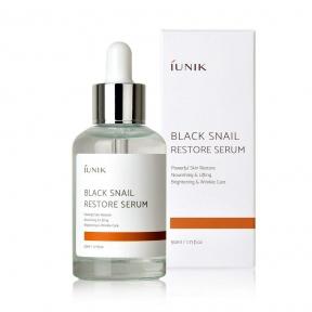 Сыворотка регенерирующая для лица с экстрактом муцина чёрной улитки IUNIK Black Snail Restore Serum 50ml