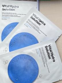 Набор: Маска тканевая увлажняющая Dr. Jart+ Dermask Waterjet Vital Hydra Solution 3шт (3х25g)