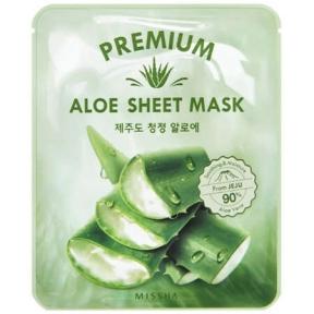Маска тканевая с экстрактом центеллы и алоэ Missha Premium Cica Aloe Sheet Mask 21g