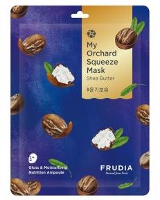 Маска восстанавливающая тканевая с маслом ши для увлажнения и питания кожи лица Frudia My Orchard Squeeze Mask Shea Butter 20ml