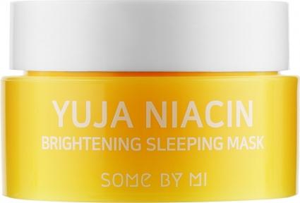 Маска ночная выравнивающая тон для лица Some By Mi Yuja Niacin Brightening Sleeping (мини) 15g