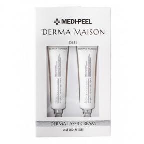 Антивозрастной восстанавливающий крем с пептидами и гиалуроновой кислотой MediPeel Derma Maison Derma Laser Cream 15mlx2ea