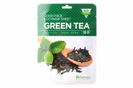 Тонизирующая Маска С Экстрактом Зеленого Чая Amicell Pascucci Good Face Eco Mask Sheet Green Tea Amicell