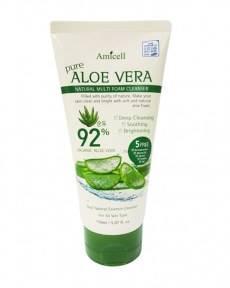 Пенка для умывания увлажняющая с экстрактом алоэ вера Amicell Elaia Pure Aloe Vera Natural Multi Foam Cleanser 150ml