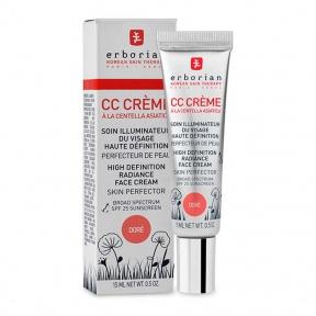 CC-крем золотистый с центеллой для лица Erborian Eau Ginseng CC Cream Dore 15ml