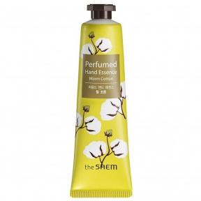 Эссенция для рук парфюмированная  укрепляющая с экстрактом хлопка The Saem Perfumed Hand Essence Warm Cotton 30ml