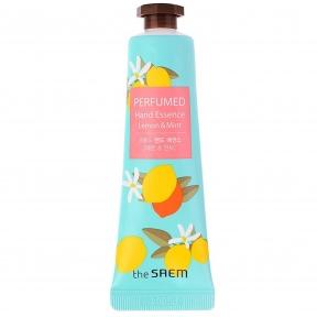 Крем-эссенция для рук увлажняющая с экстрактом лимона и мяты The Saem Perfumed Hand Essence Lemon Mint 30ml