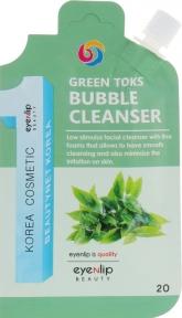 Пенка для умывания пузырьковая зеленая с детокс-эффектом для лица Eyenlip GREEN TOKS BUBBLE CLEANSER 20ml
