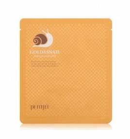 Гидрогелевая Маска Восстановление И Увлажнение С Улиточным Муцином И Коллоидным Золотом Petitfee Gold & Snail Mask Pack