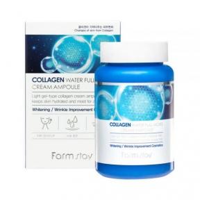 Увлажняющий крем-сыворотка с коллагеном для лица FarmStay Collagen Water Full Moist Cream Ampoule 250ml